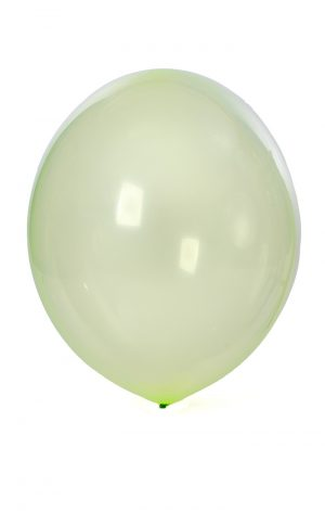 A very large, very round, latex balloon that is 33 inches tall and 28 inches wide